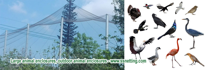 Large animal enclosures, outdoor animal enclosures