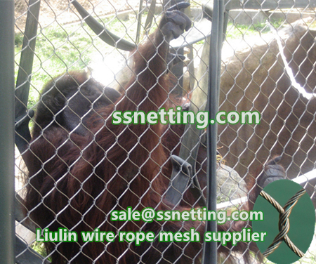 Primate animal cages fence netting for sale, liulin monkey wire rope netting