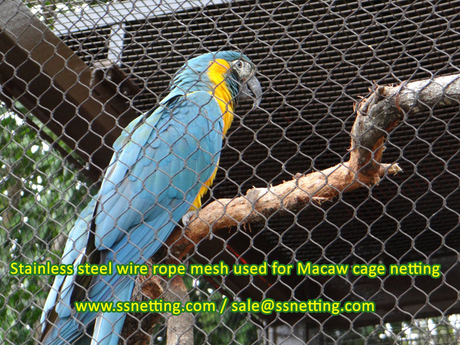 Stainless steel wire rope mesh used for Macaw cage netting.jpg