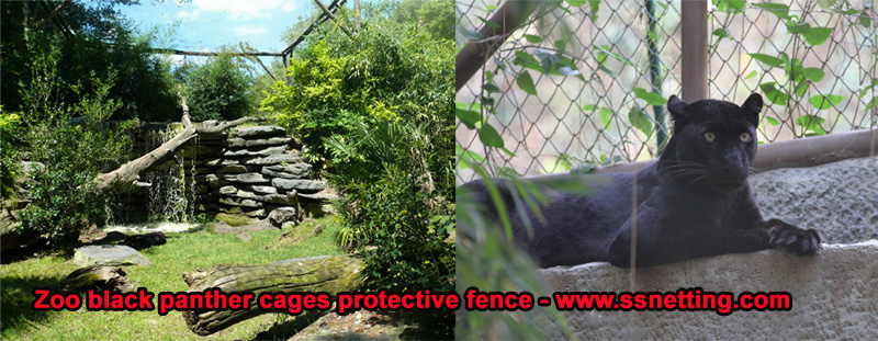 Zoo black panther cages protective fence - www.ssnetting.com