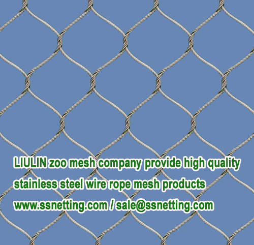 Flexible wire mesh for zoo animal cages