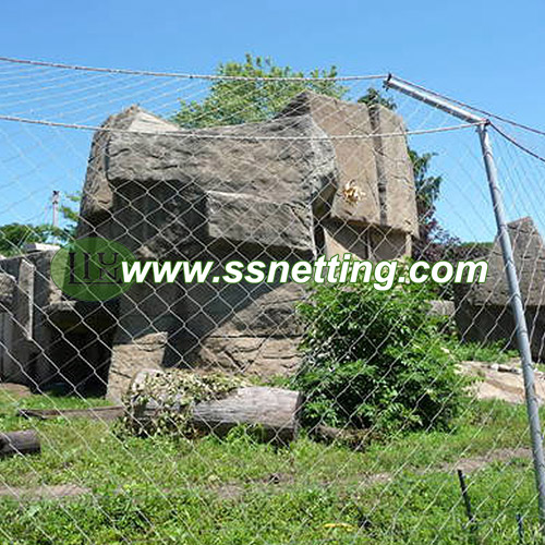 lion enclosure mesh, leopard fence and other ferocious animals cage fence